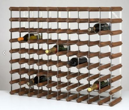 RTA 90 Bottle Dark Stained Pine Wine Rack